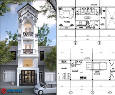 Ngắm nhìn thiết kế mặt tiền nhà phố cổ điển 5 tầng tại Gò Vấp