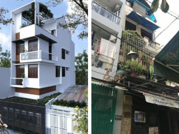 Thi công sửa chữa cải tạo mặt tiền và nội thất nhà phố 4 tầng