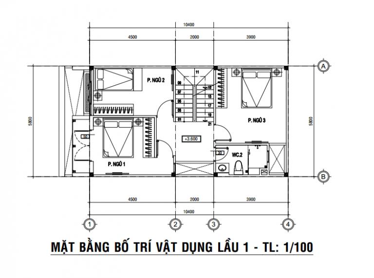 mẫu nhà phố 3 tầng