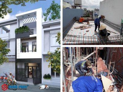 Ngắm nhìn thiết kế mặt tiền nhà 1 trệt 2 lầu đẹp ở Tân Phú