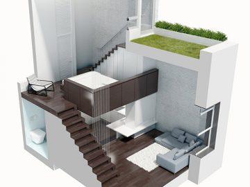 Sức mạnh của ý tưởng thiết kế 2020 trong xây dựng nhà phố nhỏ