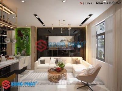Giải pháp bố trí nội thất nhà ống 4 tầng 40m2 kết hợp kinh doanh