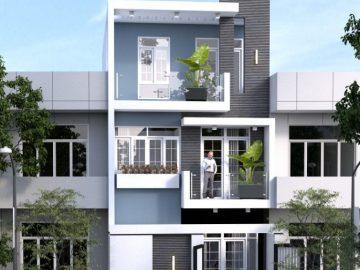 20+ mẫu nhà phố 3 tầng đẹp 2019 – 2020 – Phong cách hiện đại