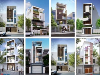15 mẫu mặt tiền nhà phố 4 tầng đẹp cho thiết kế hiện đại 2020