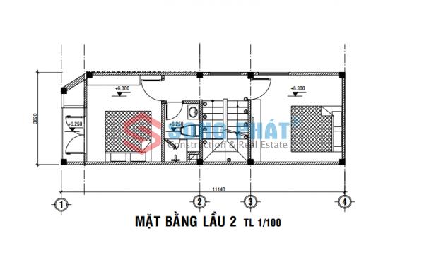 thiết kế nhà 40m2