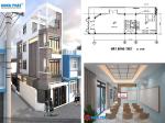 Thiết kế thông minh của nhà nhỏ 40m2 kết hợp ở và phòng dạy học