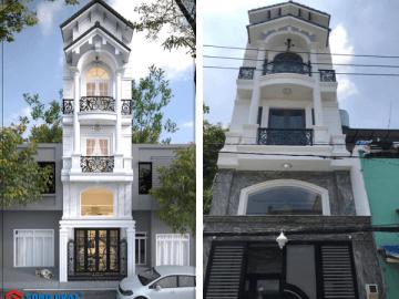Khám phá hình ảnh thực nhà cổ điển 5 tầng với giá xây 920 triệu