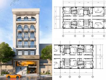 Mẫu thiết kế khách sạn đẹp theo xu hướng kiến trúc 2020 ở Ninh Thuận