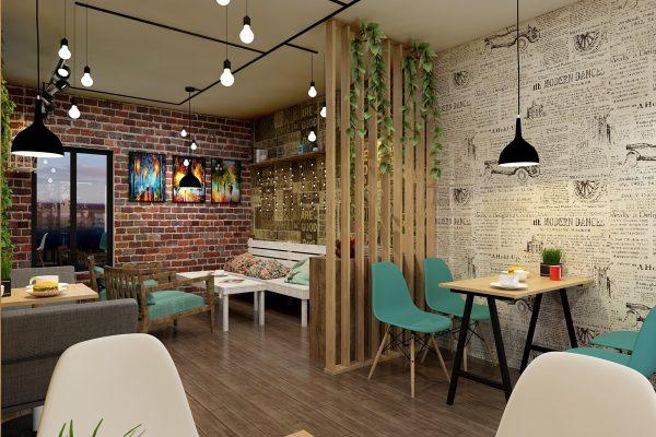 thiết kế quán cà phê đẹp 2020
