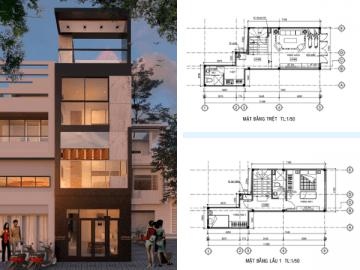Xây dựng nhà 4 tầng trong hẻm nhỏ 40m2 cho gia đình 6 người