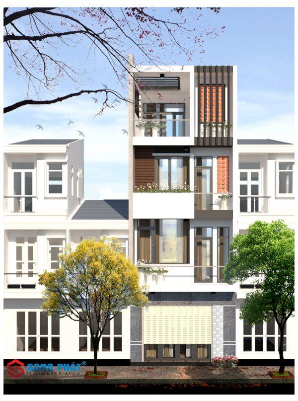 mẫu mặt tiền nhà phố đẹp 2020