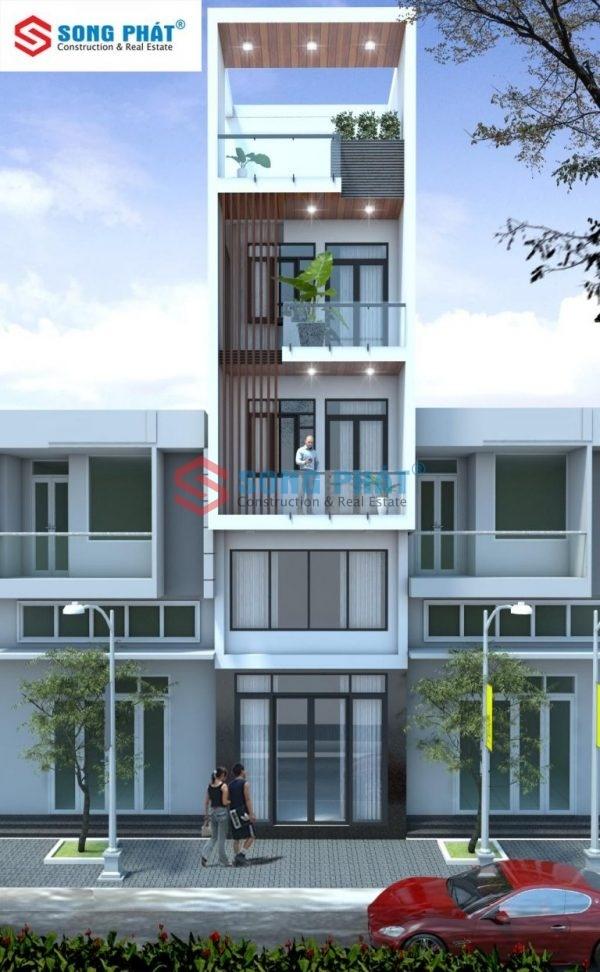 mẫu nhà 5 tầng đẹp 2020