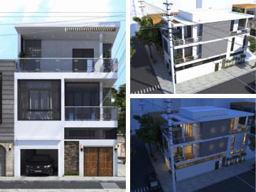 Thiết kế nhà 3 tầng 2 mặt tiền đẹp – ý tưởng xây nhà 2020