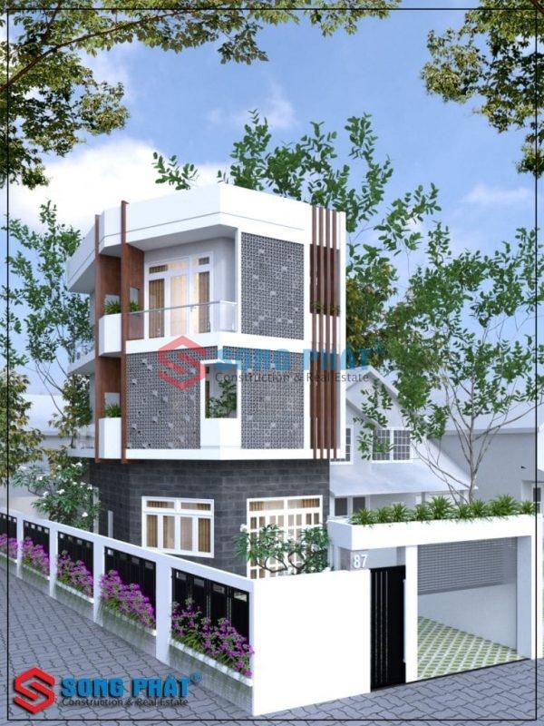 nhà mặt tiền 5m đẹp 2020