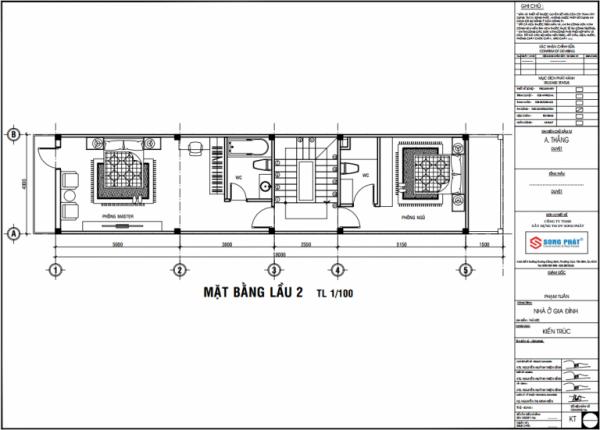 bố trí không gian nhà 4 tầng