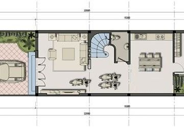 Tư vấn thiết kế nhà ống 2 tầng 5x16m cho gia đình 4 người