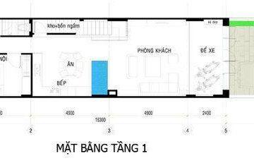 Tư vấn thiết kế bản vẽ nhà 5x16m 1 trệt 1 lầu sân thượng