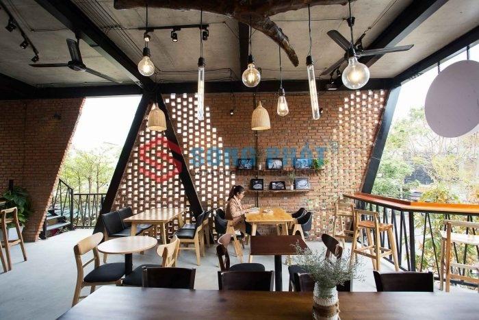 thiết kế quán café khung thép