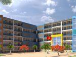 Tư vấn thiết kế trường học bằng khung thép 6 tầng hiện đại